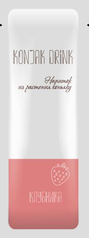 Напиток из растения коньяку со вкусом КЛУБНИКА 13,3  гр