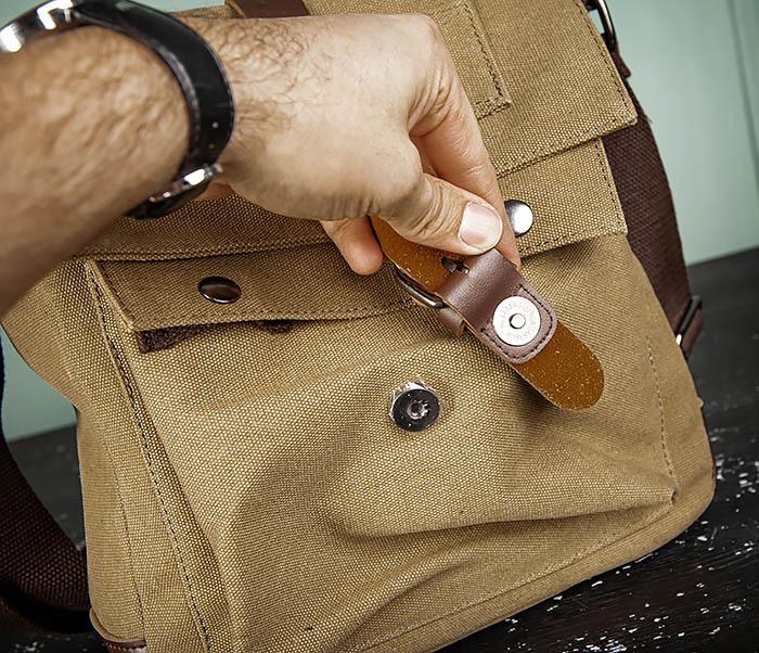 BAG503-2 Мужская сумка планшет из плотной ткани фото 09