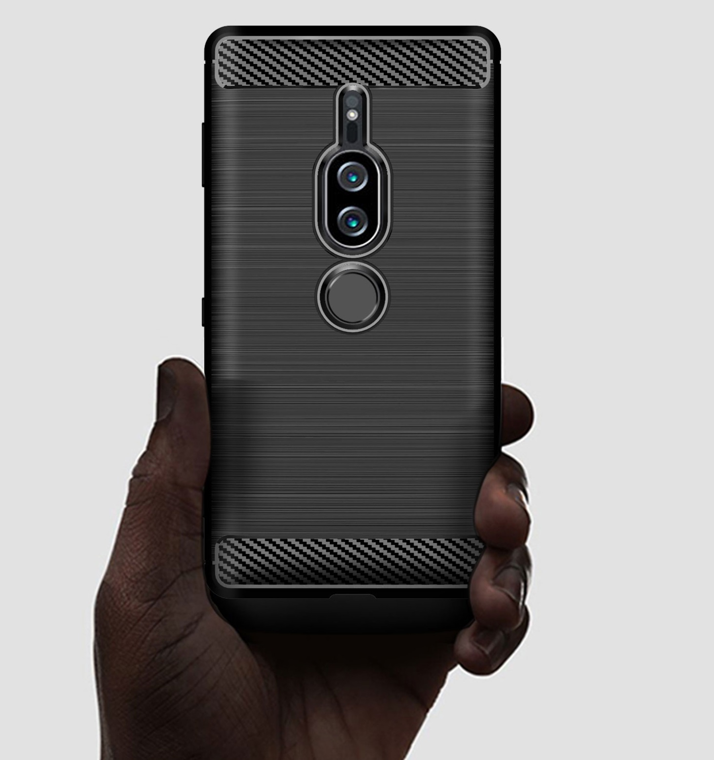 Чехол Sony Xperia XZ2 Premium цвет Black (черный), серия Carbon, Caseport