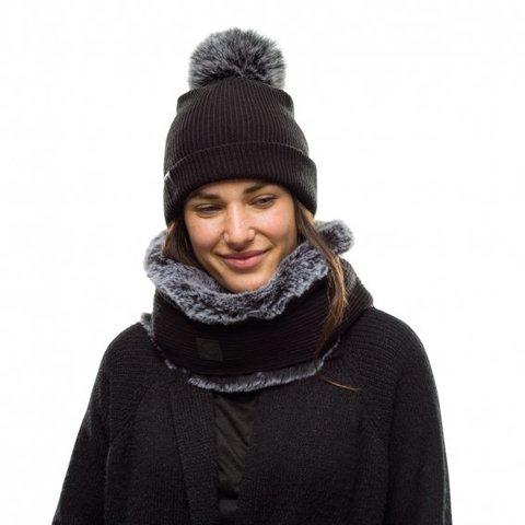 Модный шарф-труба Buff Neckwarmer Knitted Comfort Kesha Black фото 2