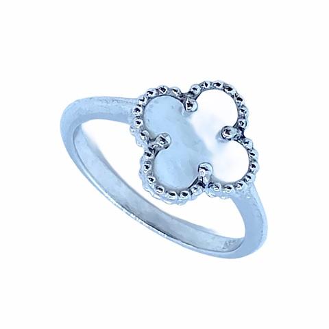 44316- Кольцо Trendy mini из серебра с перламутром