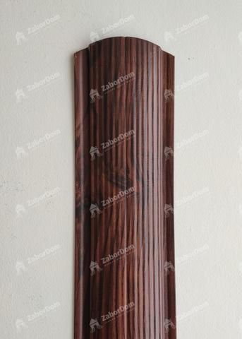 Евроштакетник металлический 110 мм Красный каштан фигурный двусторонний 0.5 мм
