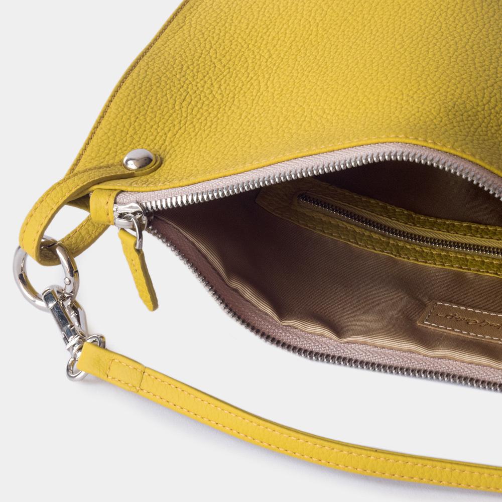 Женская сумка Tereze Easy из натуральной кожи теленка, желтого цвета