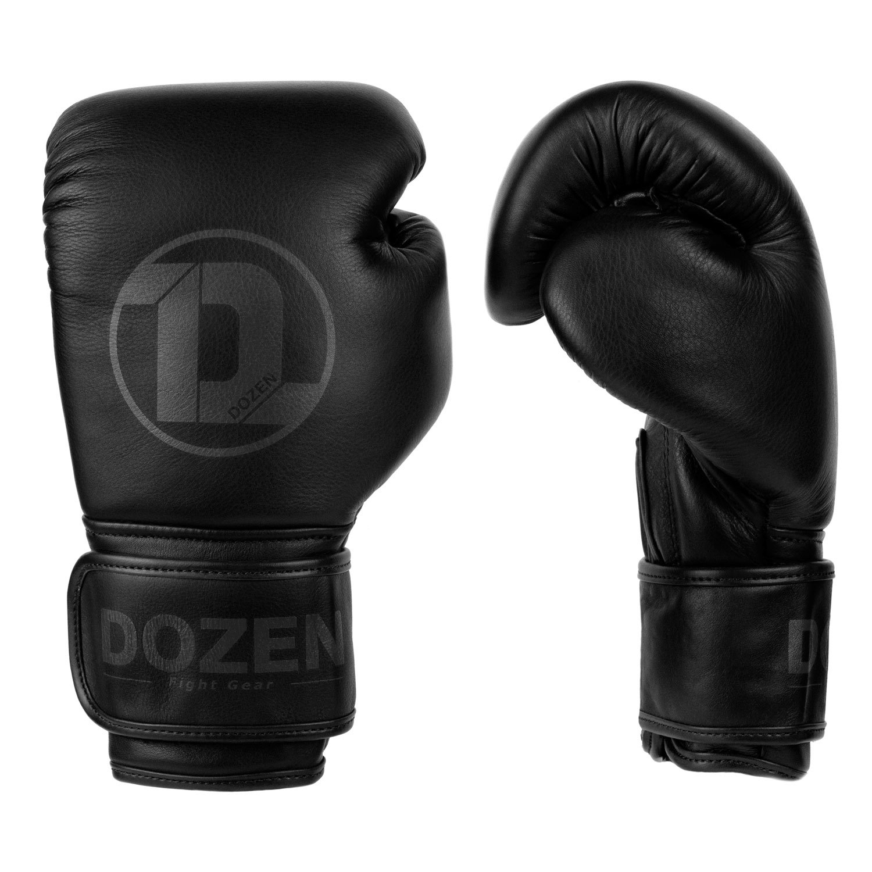 Перчатки Dozen Monochrome черные вид сбоку