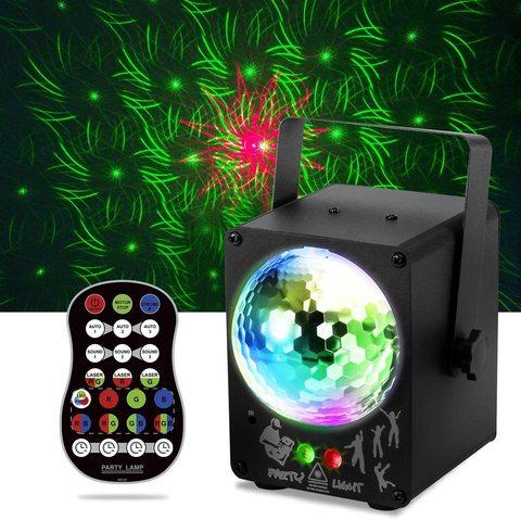Проектор Disco Lights, RGB LED Lights Sound Flash