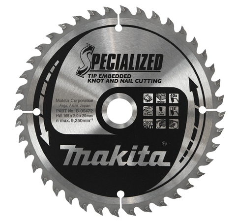 Диск Makita, для демонтажных работ 355х30х3 мм /40