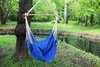 Гамак кресло из льна синий RGK5SIN