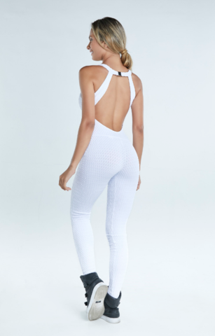 Комбинезон женский для йоги и фитнеса Roxy White