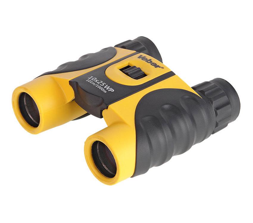 Бинокль Veber 10x25 WP черно-желтый - фото 1