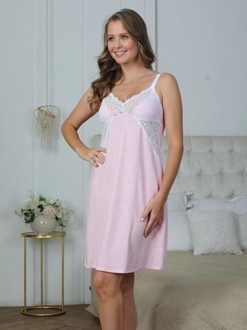 Vivamama. Сорочка для кормящих Olivia, розовый меланж