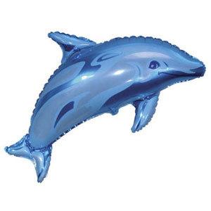 Фольгированный шар Дельфин голубой 72 X 94см
