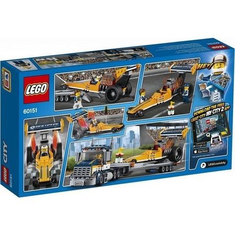 LEGO City: Грузовик для перевозки драгстера 60151 — Dragster Transporter — Лего Сити Город