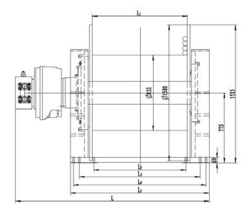 Стандартная лебедка IYJ79-550-261-52-ZP