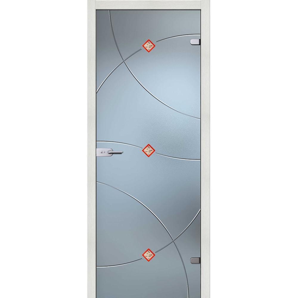 Стеклянные межкомнатные двери Межкомнатная стеклянная дверь АКМА Амелия стекло бесцветное матовое amelia-esh-vait-melinga-dvertsov-min.jpg