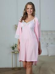 Vivamama. Сорочка для кормящих Olivia, розовый меланж вид 2