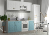 Модульный кухонный гарнитур «Гранд» 2100мм (Зеленый/Белый), ЛДСП/МДФ, ДСВ Мебель