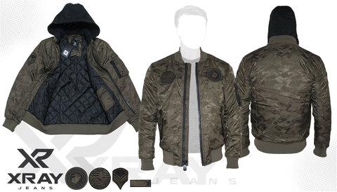 Куртка утепленная 'MA-1 Hooded Airborne' Olive Camo