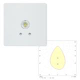 Встраиваемый квадратный потолочный светильник аварийного освещения SLIMSPOT II Zone MIDBAY Teknoware