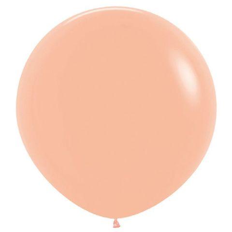 №15 Персиковый Гелиевый шар пастель 60см с обработкой