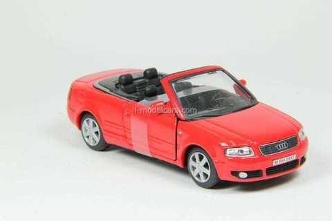 Audi A4 Cabriolet open red Cararama 1:43