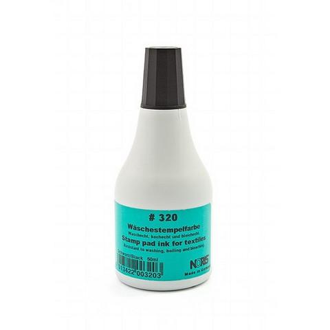 Краска штемпельная Noris 320C черная на водной основе с содержанием спирта 50 г