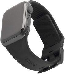 Ремень силиконовый UAG Scout Silicone для Apple Watch 44/42 чёрный (Black)