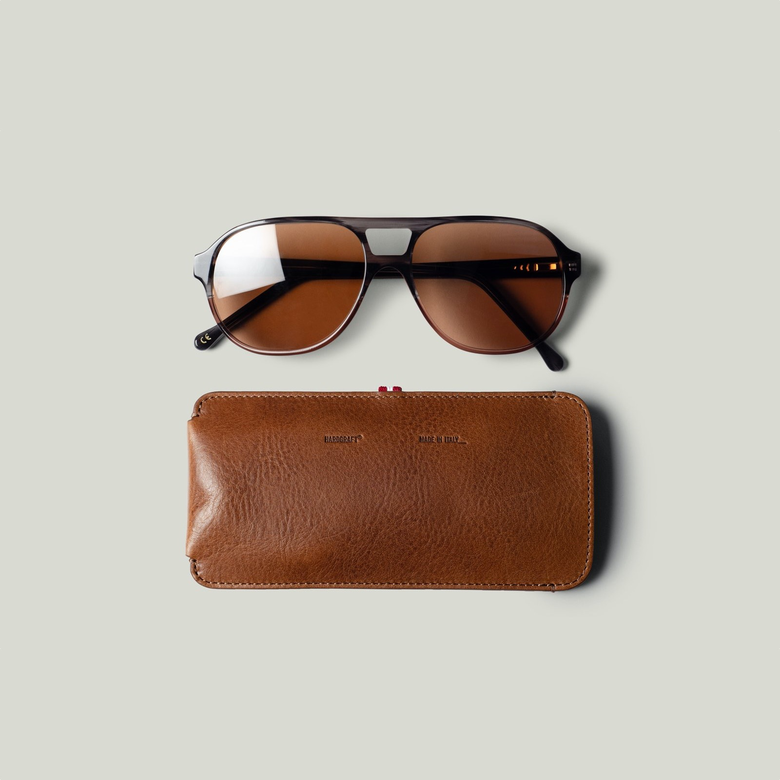 Hard Graft Sienna Sunglasses & Case Sundown Brown