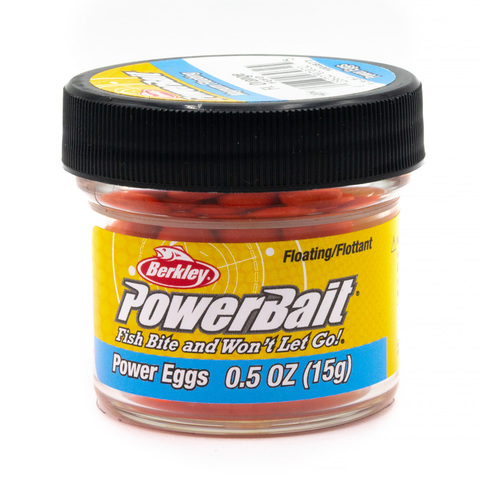 Приманка силиконовая Berkley Powerbait Dough Eggs Floating Magnum Fluoorange In Jar (1004877)