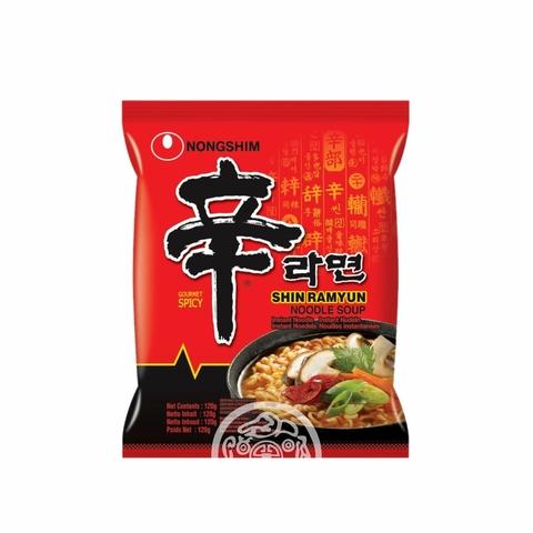 Лапша б/п Шин Рамён классическая острая сушеная Халяль 120г Южная Корея