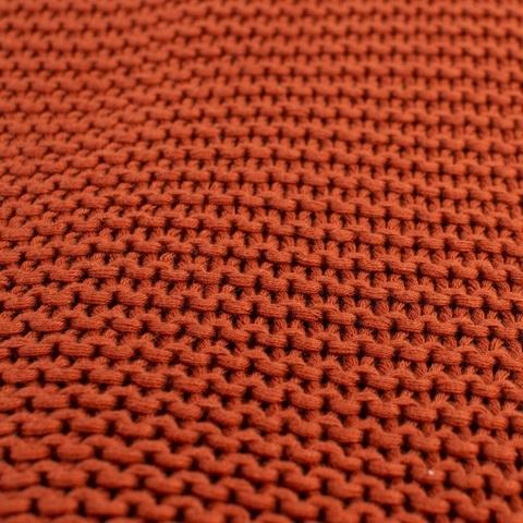 Плед жемчужной вязки терракотового цвета Essential, 180х220 см