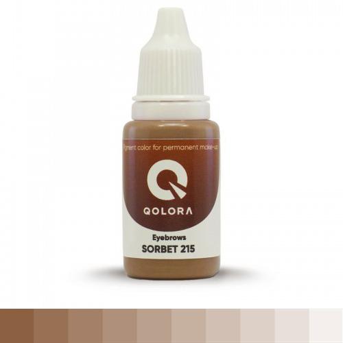 QOLORA SORBET 215 (ЩЕРБЕТ)  пигмент для татуажа бровей