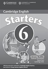 C Young Learners Eng Tests 6 Starters Ans Booklet
