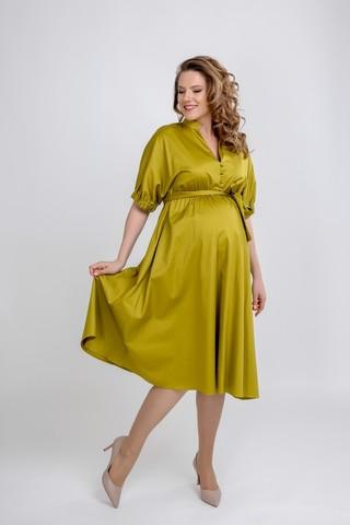 Платье для беременных 09564 оливковый