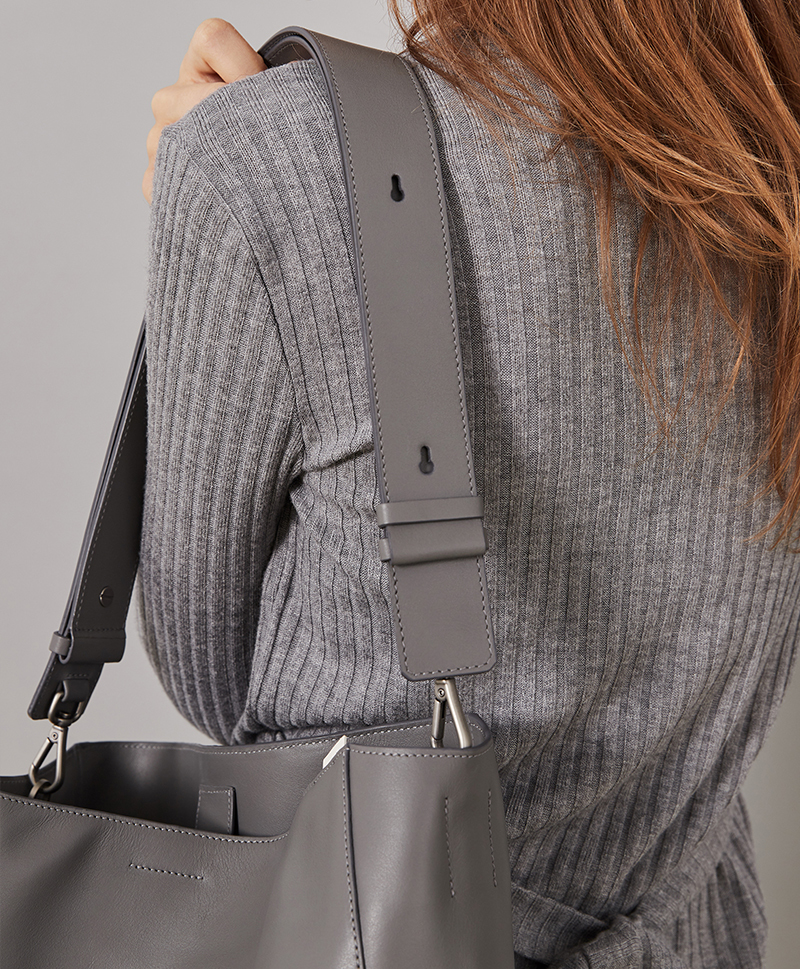 Сумка-шоппер серого цвета