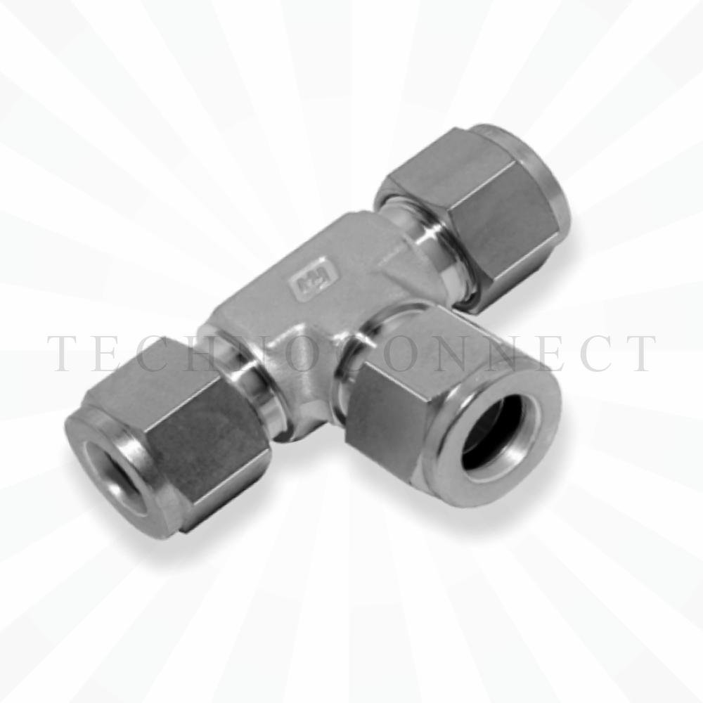 CTA-2M  Тройник равнопроходной: метрическая трубка 2 мм