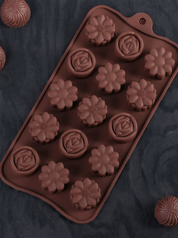 Форма для льда и шоколада «Клумба»