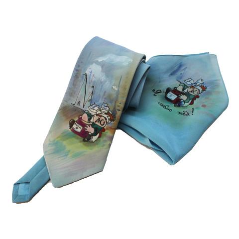Шелковый платок и галстук батик Карлсон