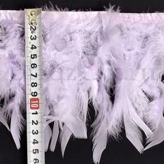Купить оптом перья Индейки на ленте Light Violet светло-фиолетовые в интернет-магазине
