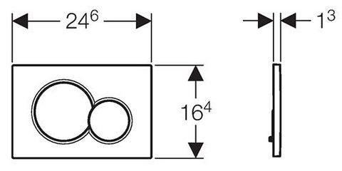 Клавиша смыва Geberit Sigma01 115.770.21.5 схема