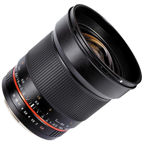 Объектив Samyang 16mm f/2 ED AS UMC CS Black для Sony A