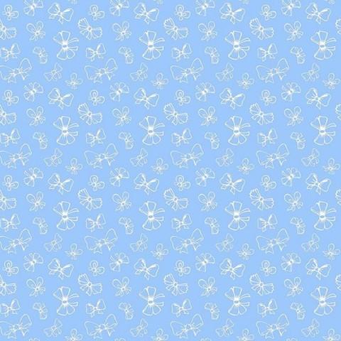 Поплин 150 см 1770/1 Бантики цвет голубой