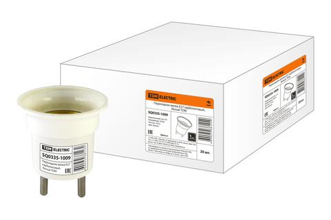 Переходник вилка-Е27 карболитовый, белый TDM