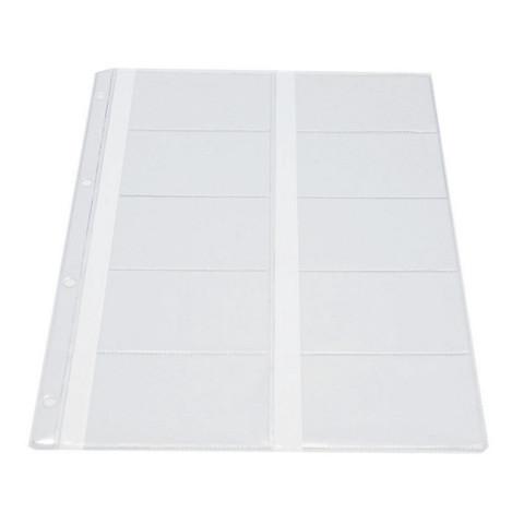 Файл-вкладыш для визиток Attache А4 120 мкм прозрачный гладкий 10 штук в упаковке