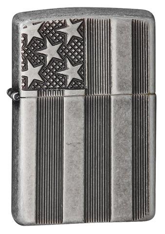 Зажигалка Zippo Armor™ с покрытием Antique Silver Plate™, латунь/сталь, серая, матовая, 36x12x56 мм123