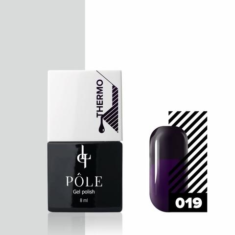 Гель-лак POLE - термо №19 - графитовый/фиолетовый (8 мл.)