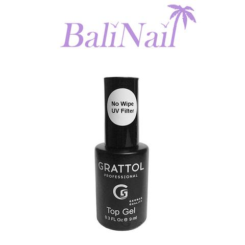 Grattol No Wipe Top Gel UV Filter - Топ без липкого слоя c УФ фильтром, 9 мл