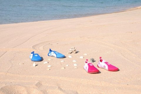 Аква-обувь для пляжа, голубая, р. 26, 28