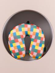 Подушка для шеи, подголовник Gekoko «Клетчатый», разноцветная 3