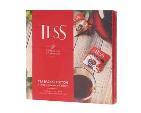 Коллекция чая и чайных напитков в пакетиках Tess, 60 пак/уп