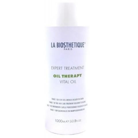 La Biosthetique Oil Therapy: Масляный уход для интенсивного восстановления поврежденных волос, фаза 1 (Vital Oil), 1л